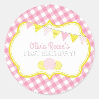 Pink Lemonade Party Sticker