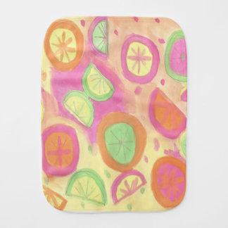Pink Lemonade Pattern Burp Cloth