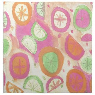 Pink Lemonade Pattern Napkin