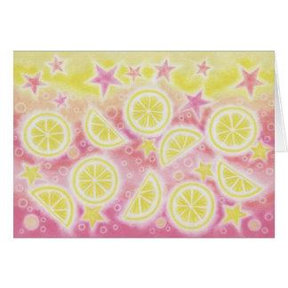 Pink Lemonade 'Sparkling Day' greetings card