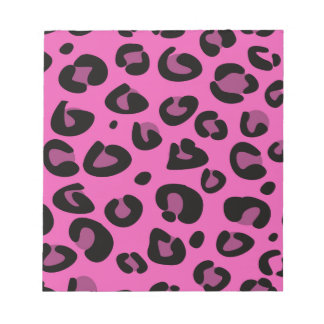 PINK LEOPARD DESIGN COLLECTION NOTEPAD