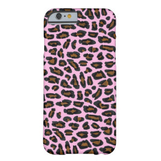Pink Leopard Fur Barely There iPhone 6 Case