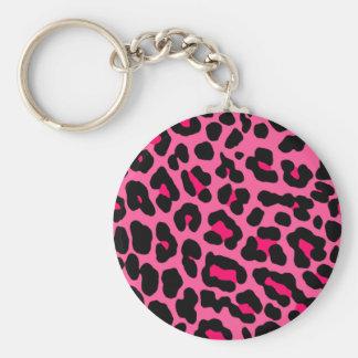Pink Leopard Key Ring