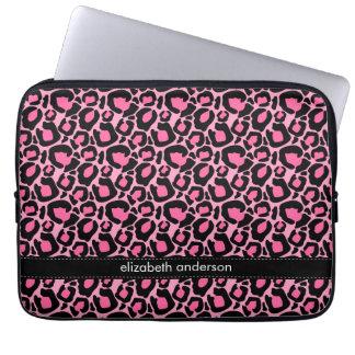 Pink Leopard Pattern Custom Laptop Sleeve