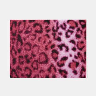 Pink Leopard Pattern Design Doormat