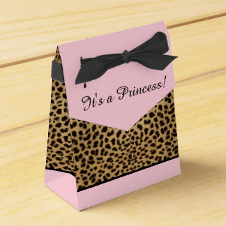 Pink Leopard Princess Baby Shower Favour Box