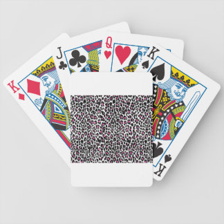 pink leopard print bicycle playing cards