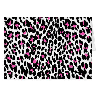 pink leopard print card