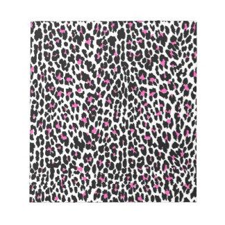 pink leopard print notepad