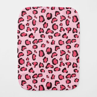 Pink Leopard Print Pattern Burp Cloth