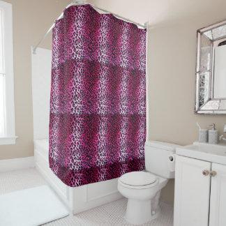 Pink Leopard Print Shower Curtain