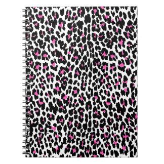 pink leopard print spiral notebook