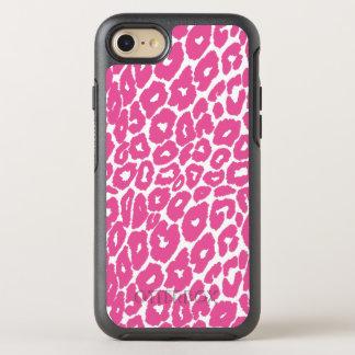 Pink Leopard Print Spot Changer OtterBox Symmetry iPhone 8/7 Case