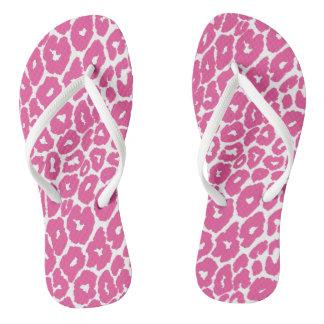 Pink Leopard Print Spot Changer Thongs