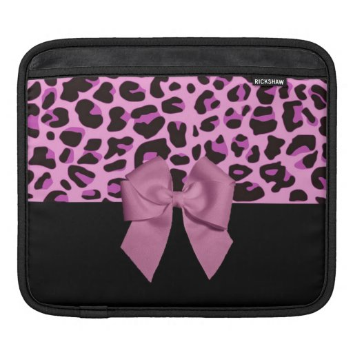 Pink Leopard Print with Bow Sleeves For iPads