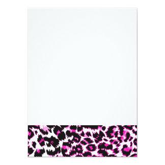 """Pink Leopard Spots 5.5"""" X 7.5"""" Invitation Card"""
