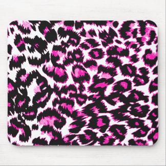 Pink Leopard Spots Mouse Pad