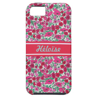 Pink Liberty flower First name personnalisable Case For The iPhone 5