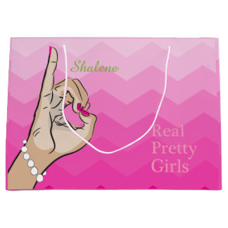 Pink Life girly illustration Large Gift Bag