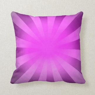 Pink Light Abstract Art Ray Sun Cushion
