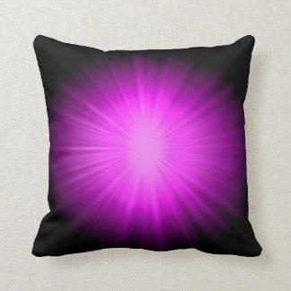Pink light rays abstract cushion