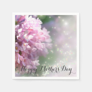 Pink Lilac Mother's Day Paper Napkins