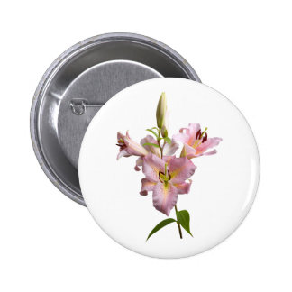 Pink Lilies Button