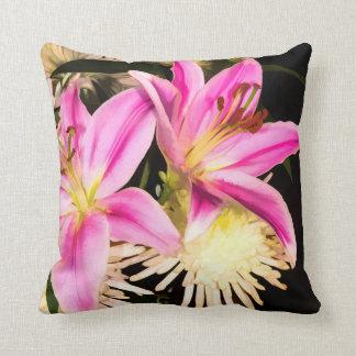 Pink Lilies Cushion