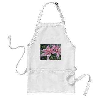 Pink lilies standard apron