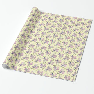 Pink lilies wrapping paper