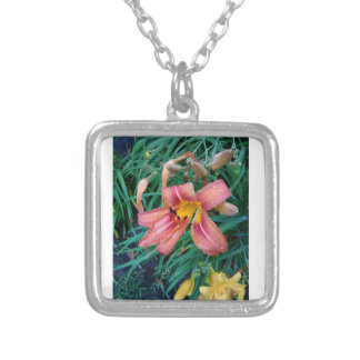 Pink Lillies Necklace