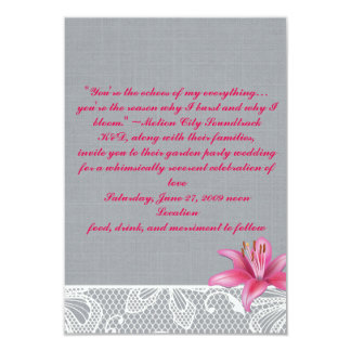 Pink Lilly Card