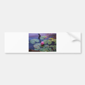 Pink Lilly Pad Car Bumper Sticker