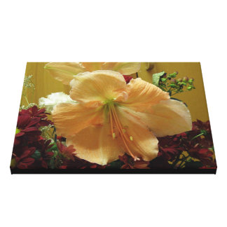 Pink Lily Bouquet Canvas Print