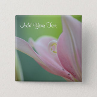 Pink Lily by Shirley Taylor 15 Cm Square Badge