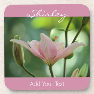 Pink Lily by Shirley Taylor Coaster