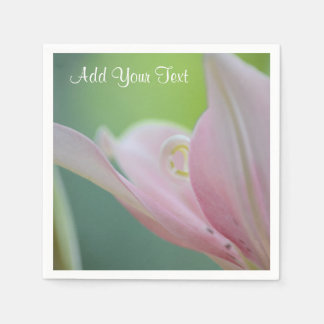 Pink Lily by Shirley Taylor Disposable Napkin