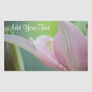 Pink Lily by Shirley Taylor Rectangular Sticker