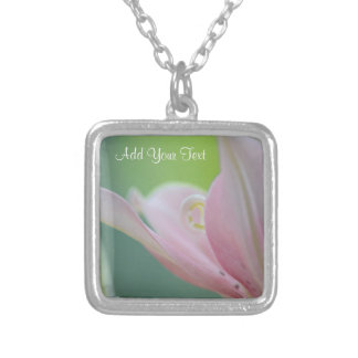 Pink Lily by Shirley Taylor Silver Plated Necklace
