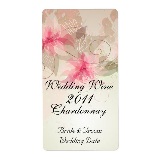 Pink Lily Floral Shipping Label