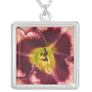 Pink Lily Flower Necklace