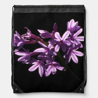 Pink Lily Flowers Cinch Bag