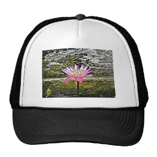 Pink Lilypad Flower Painting Hat