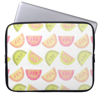 Pink, Lime Green, Orange, Yellow, Tropical Citrus Laptop Computer Sleeves