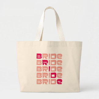 Pink Line Bride Tote Bag