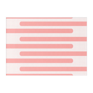 Pink Lines Pattern Acrylic Wall Art