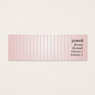 Pink Lines - Skinny Mini Business Card
