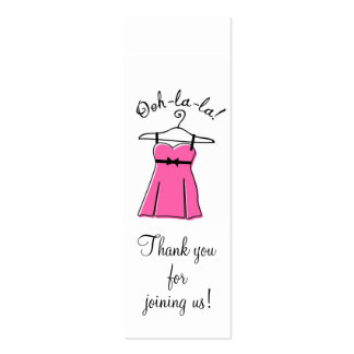 Pink Lingerie Shower Gift Tags Business Card Templates