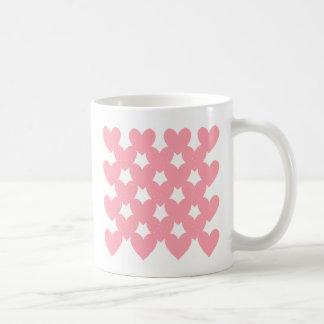 Pink Linked Hearts Basic White Mug