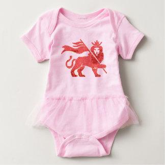 Pink Lion of Judah baby tutu Baby Bodysuit